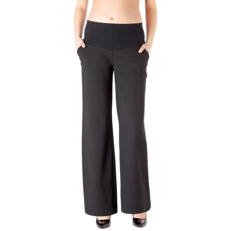pantalones premamá de pierna ancha color negro
