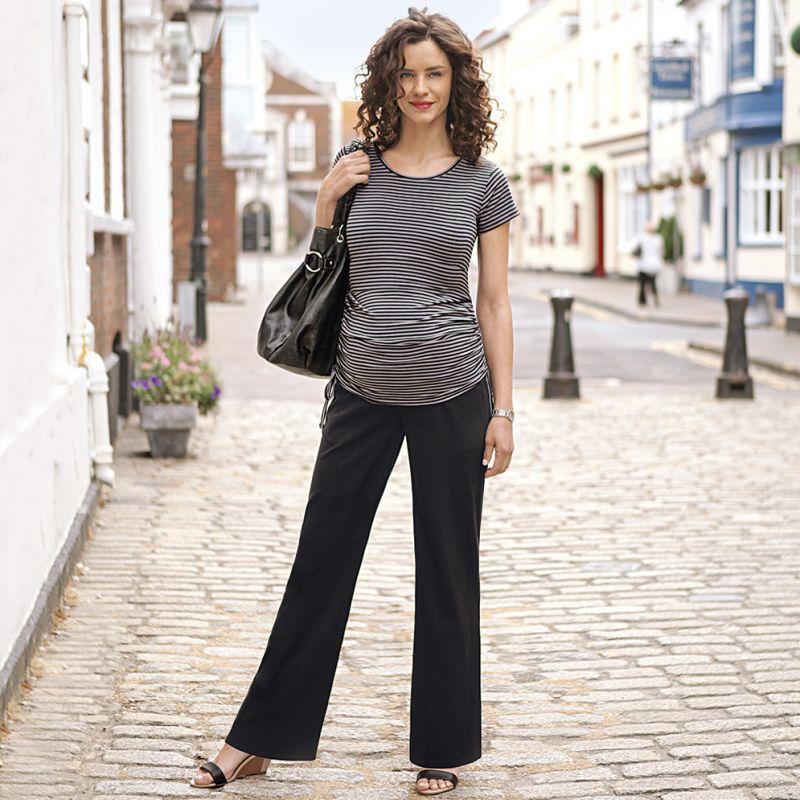 Pantalon premamá de Pierna Ancha Negro
