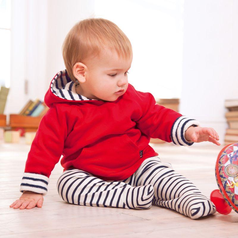 Pantalones de bebé a  Rayas blancas