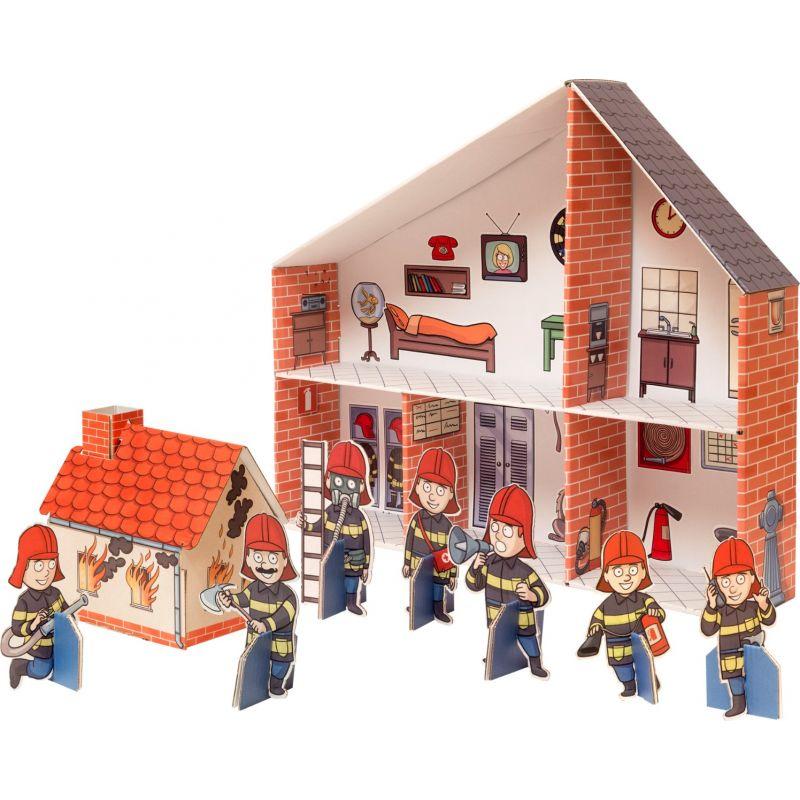 Parque de bomberos de cartón - Legler