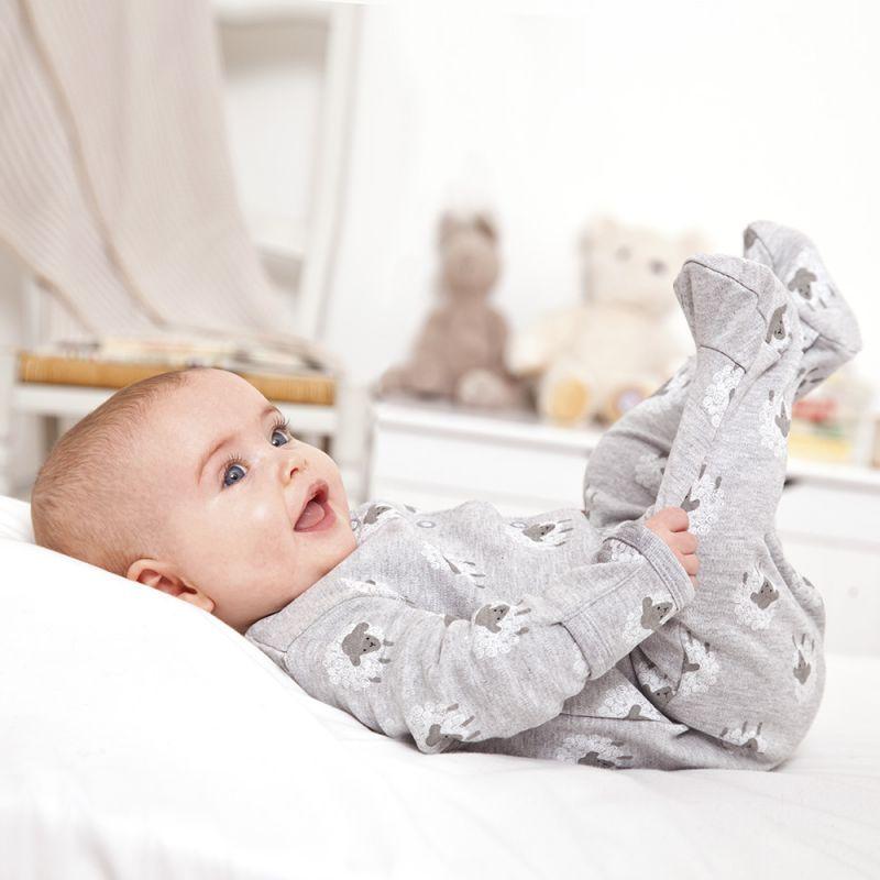 Pijama Unisex Bebé color Gris Estampado Ovejas