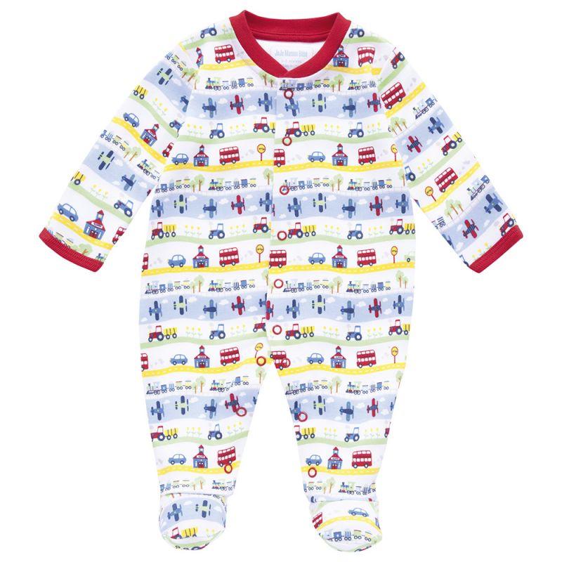 Pijama Bebé de Aviones y Trenes