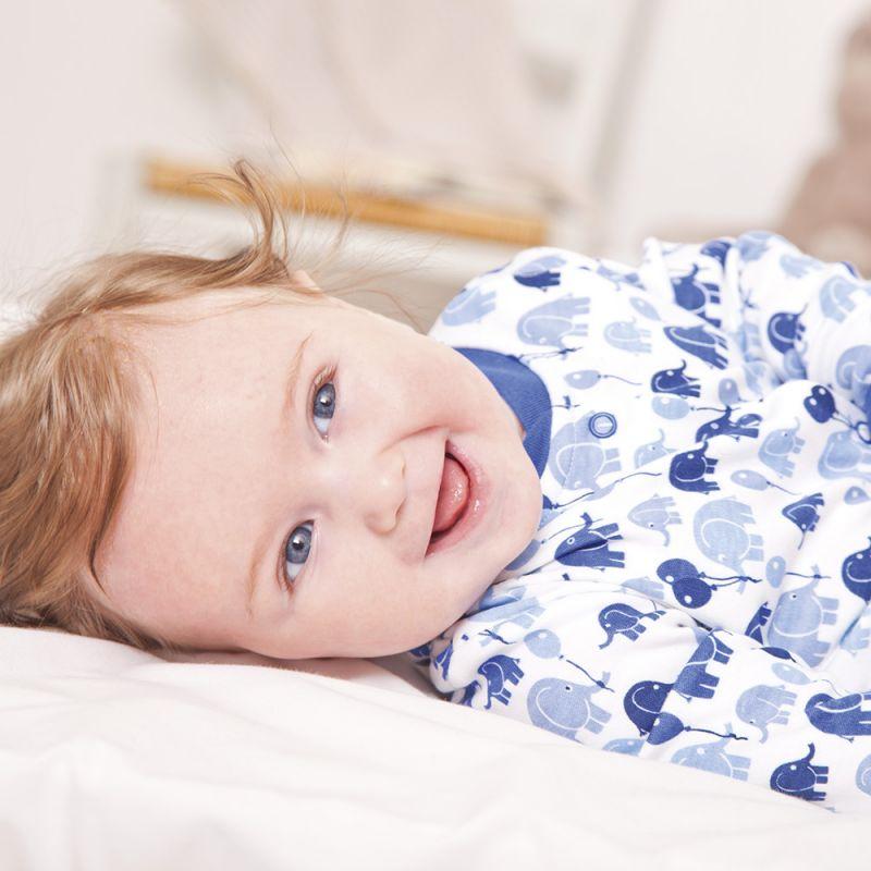 Pijama para Bebé de Elefantes Azules