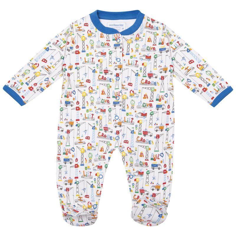 Pijama para Bebés Estampado de Camiones, gruas