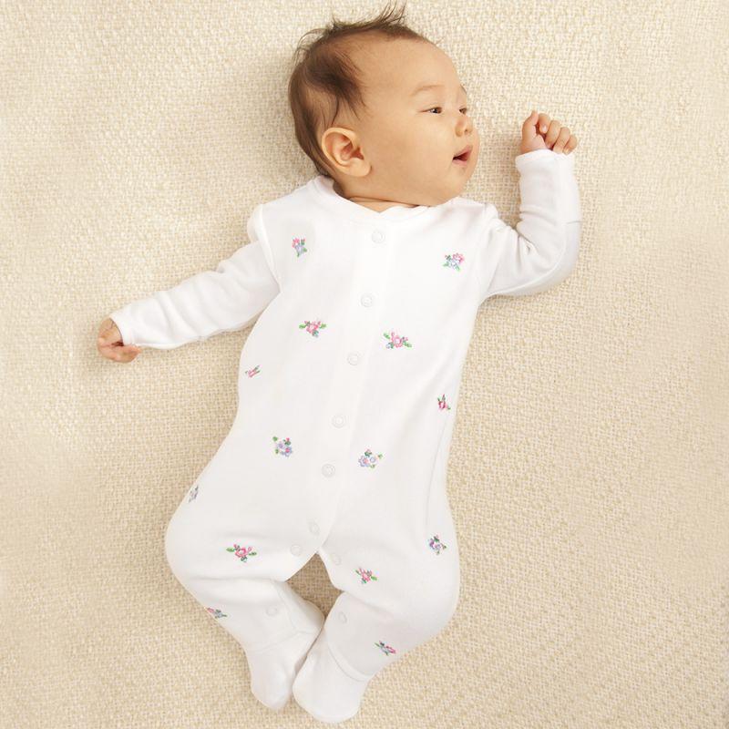Pijama Bordado para Bebés Estampado Floral