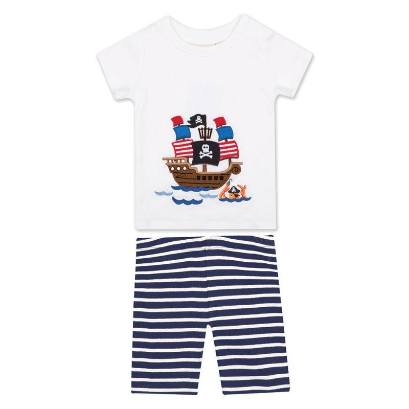 Pijama Corto Ajustado para Niño Barco Pirata