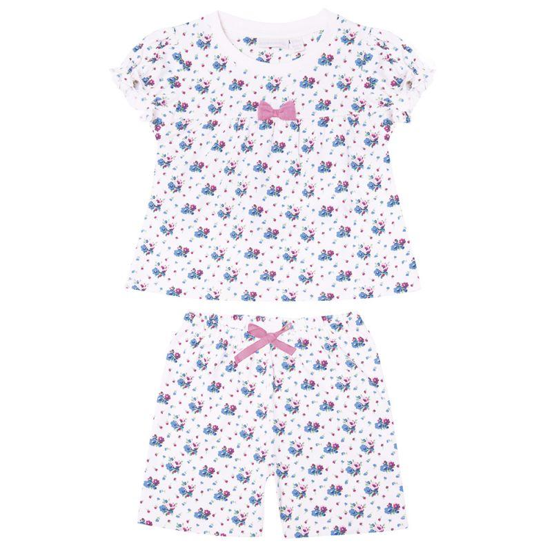 Pijama para Niña Corto Azul Floral