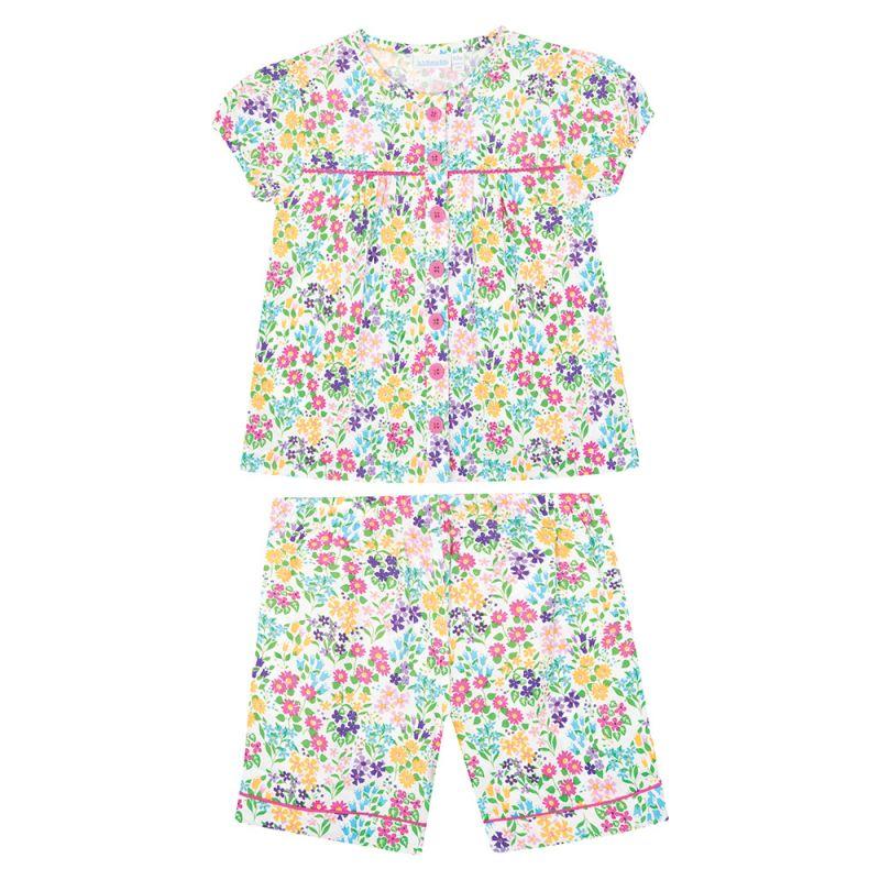 Pijama Corto para Niña de Flores