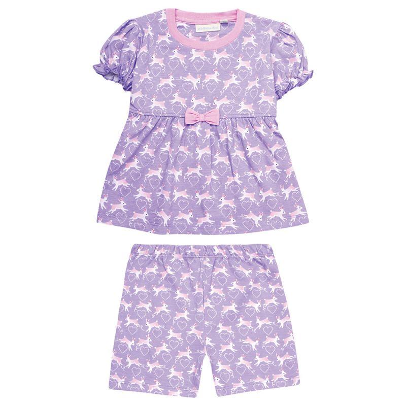 Pijama Corto para Niña Lila