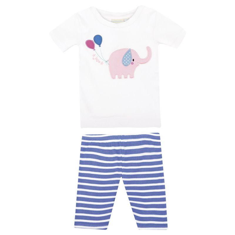 Pijama Corto Ajustado de Niña Elefante