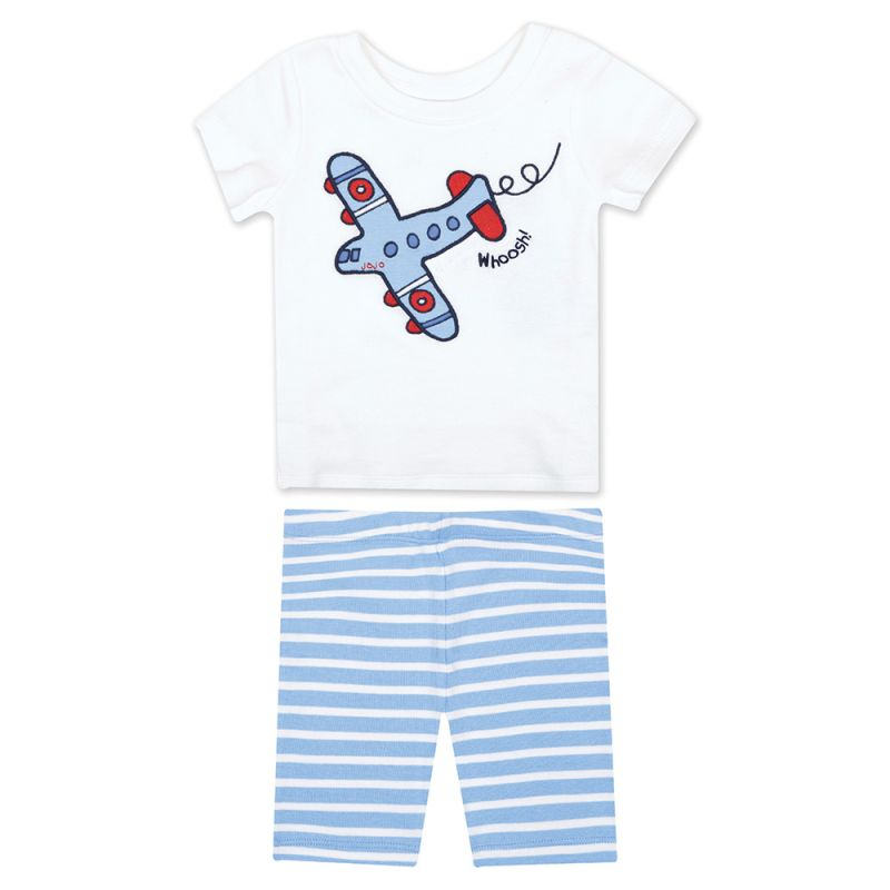 Pijama Corto y ajustado de Niño de aviones