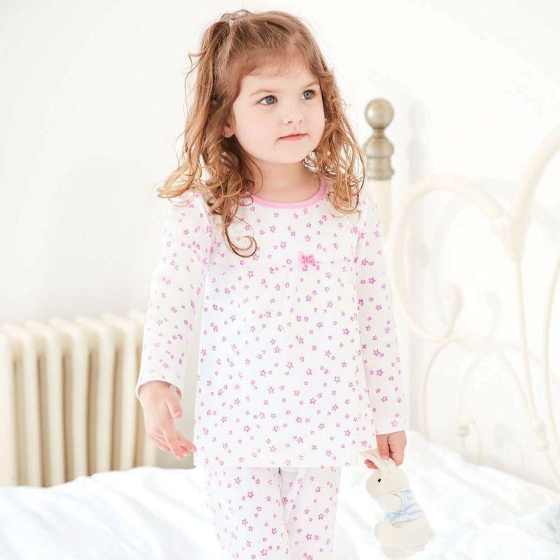 Pijama Invierno para Niña Estrellitas Rosas