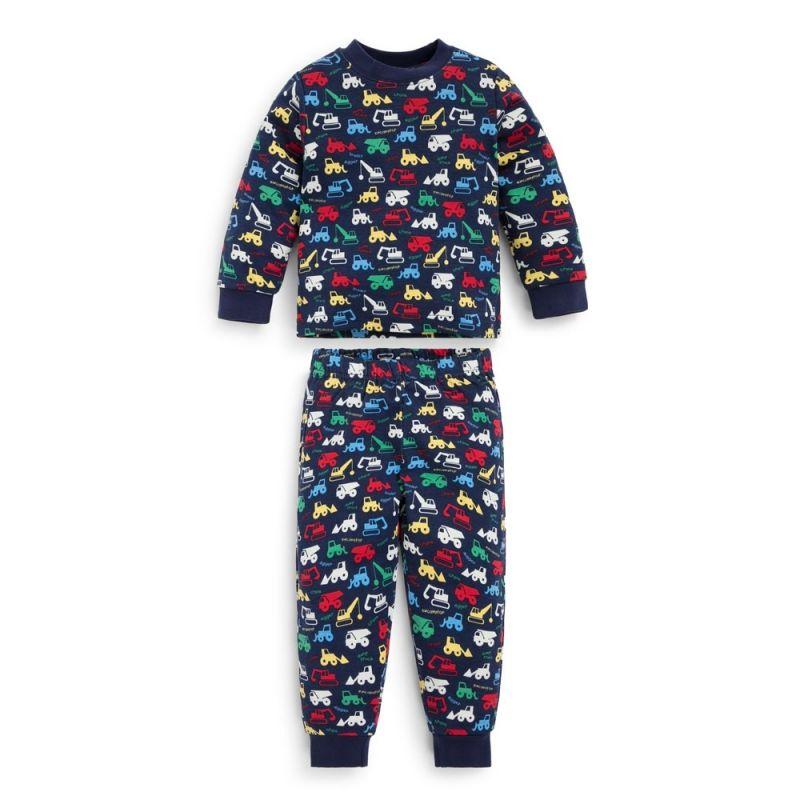 Pijama Niño Camiones y Gruas - Brilla en la Oscuridad