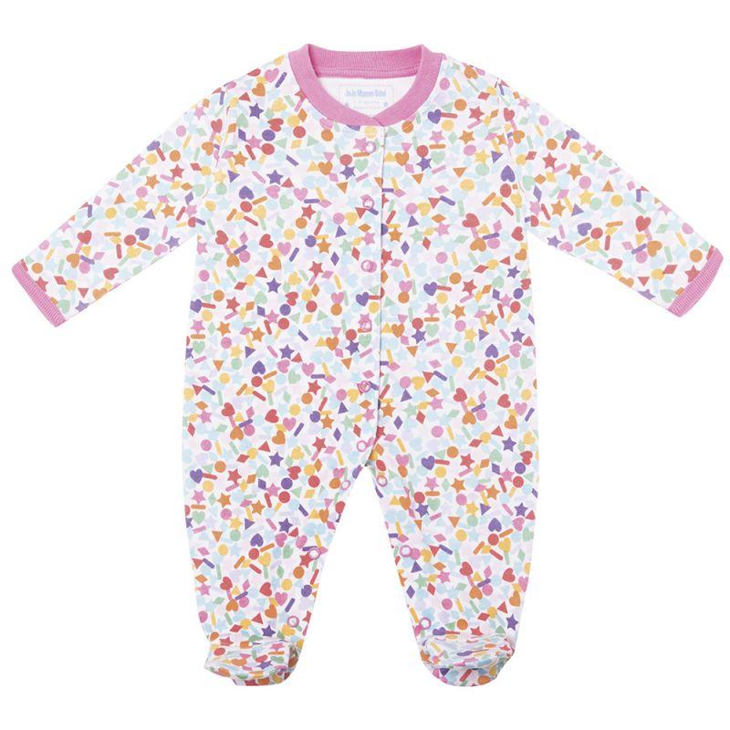 Pijama para bebés en color Rosa con estampado de Confeti