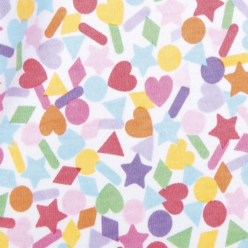 Pijama para bebé en color rosa  estampado con confeti de colorines