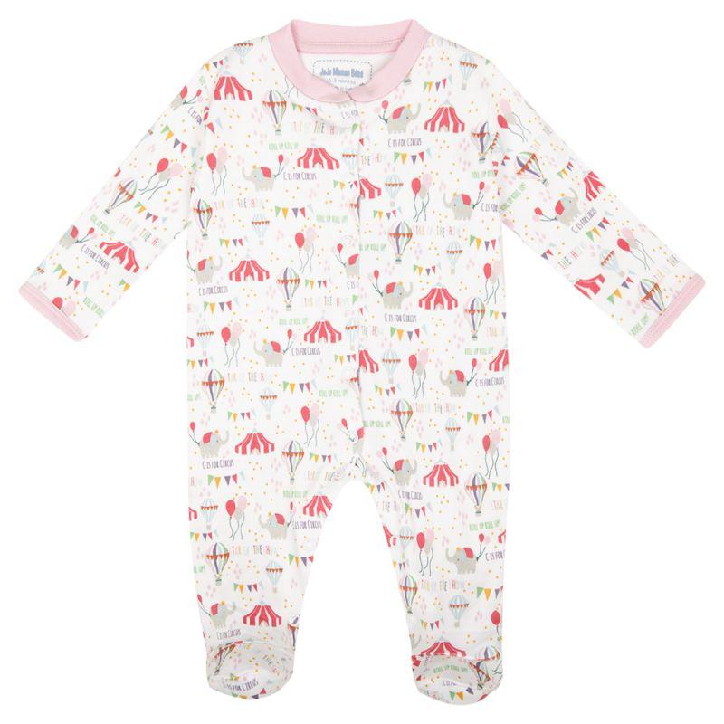 Pijama para Bebés con estampado Circo en color rosa
