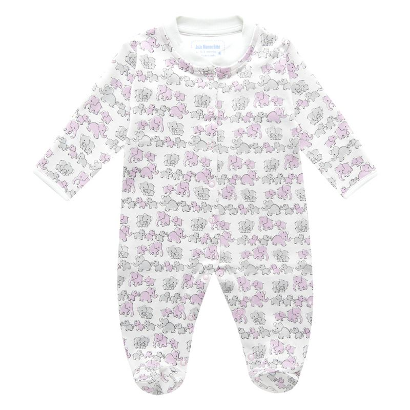 Pijama para Bebés Familia de Elefantes Rosas