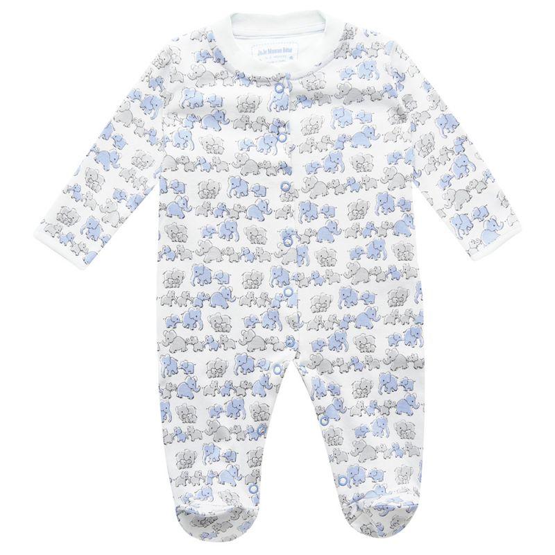 Pijama para Bebés Familia de Elefantes Azules