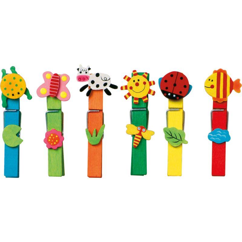 Pinzas de la ropa Coloridas - 24 unidades