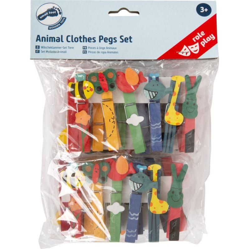 Pinzas ropa con diseño de Animales  24 unidades