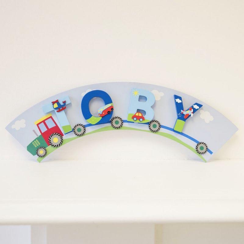 Placa Tractor para Letras Infantiles Niño