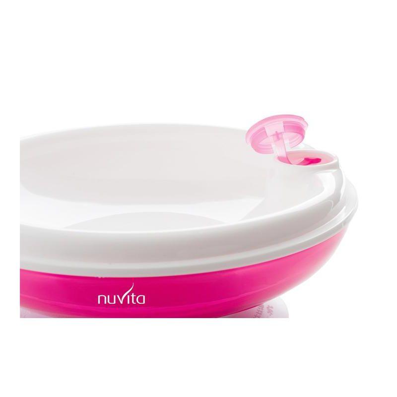 Plato térmico rosa con ventosa - Nuvita
