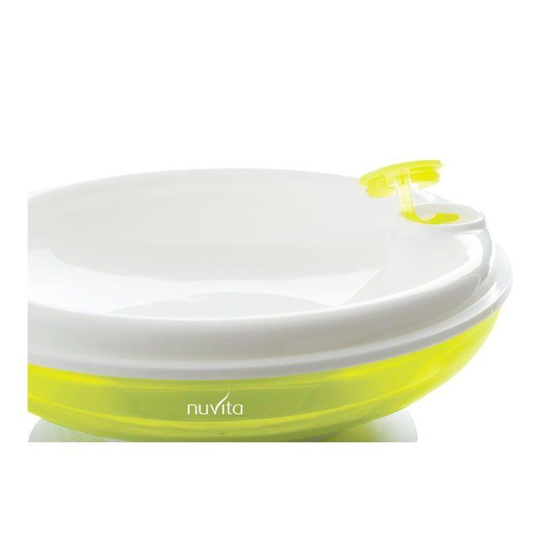 Plato térmico verde con ventosa - Nuvita