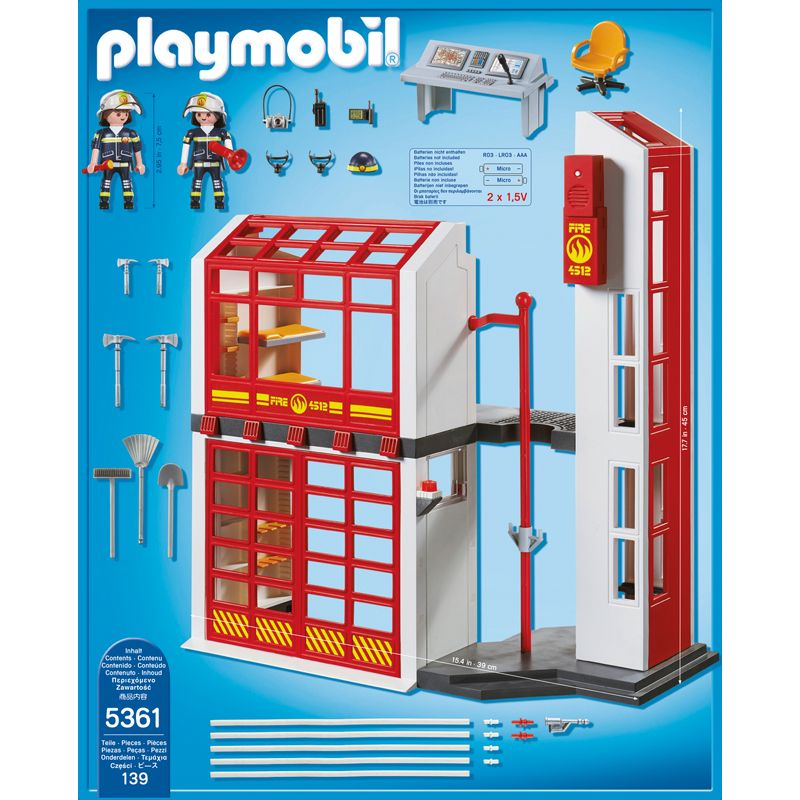Playmobil Estación de Bomberos con Alarma