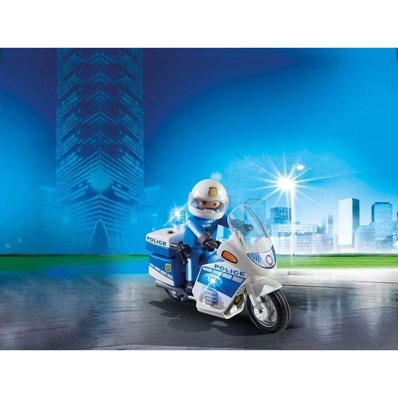 Playmobil Moto de Policía con Luces Led