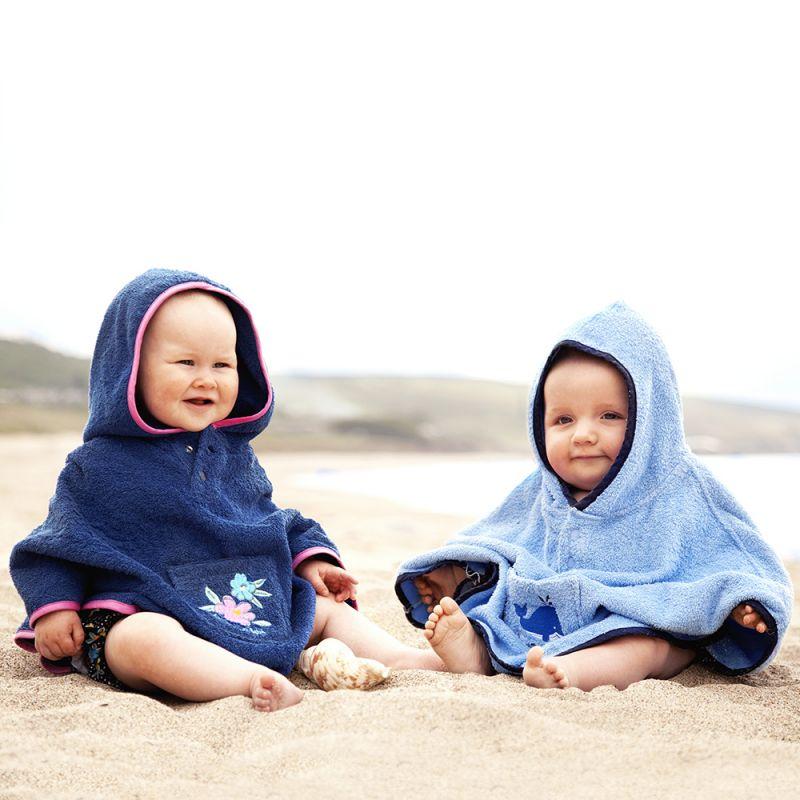 Toalla Poncho para playa y piscina para Bebés y Niños
