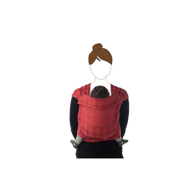 Portabebé BB-Tai Jacquard rojo - Babylonia