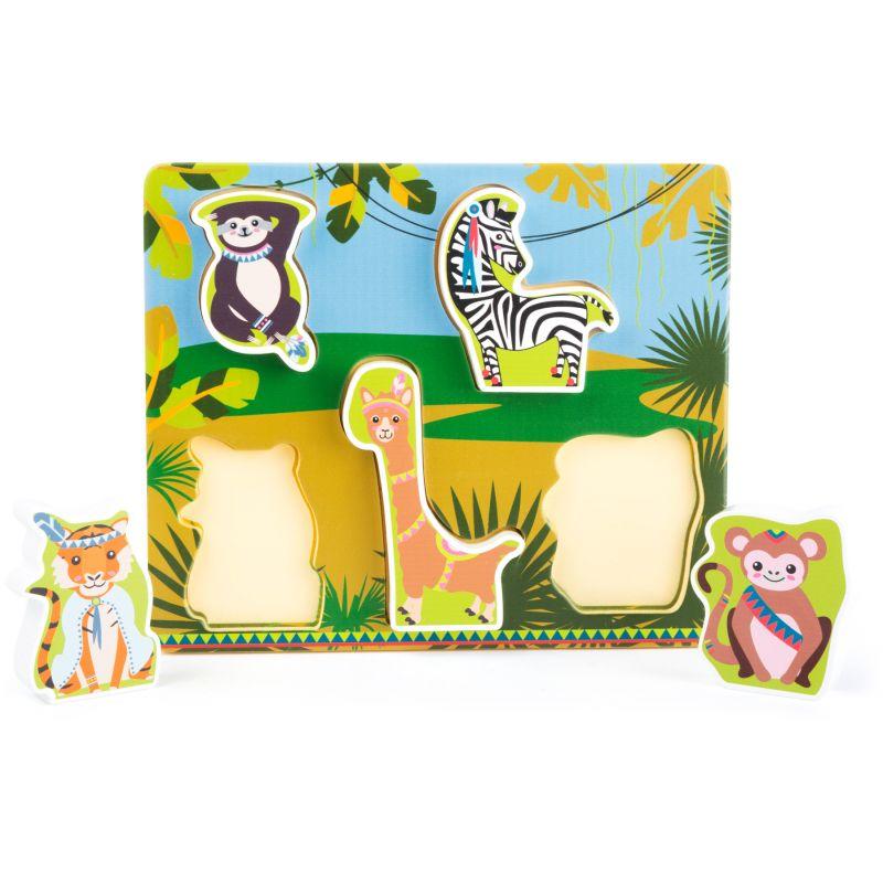 puzzle de madera animales