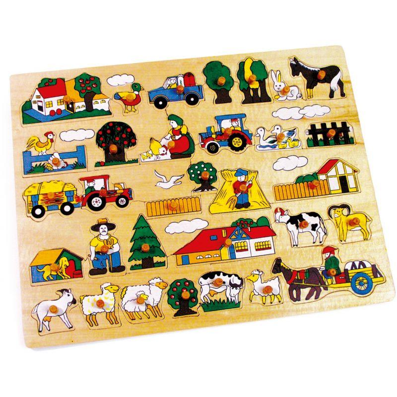 Puzzle de madera la Granja