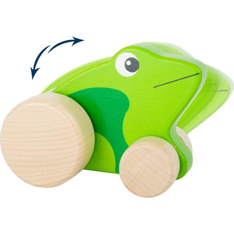rana de madera para empujar