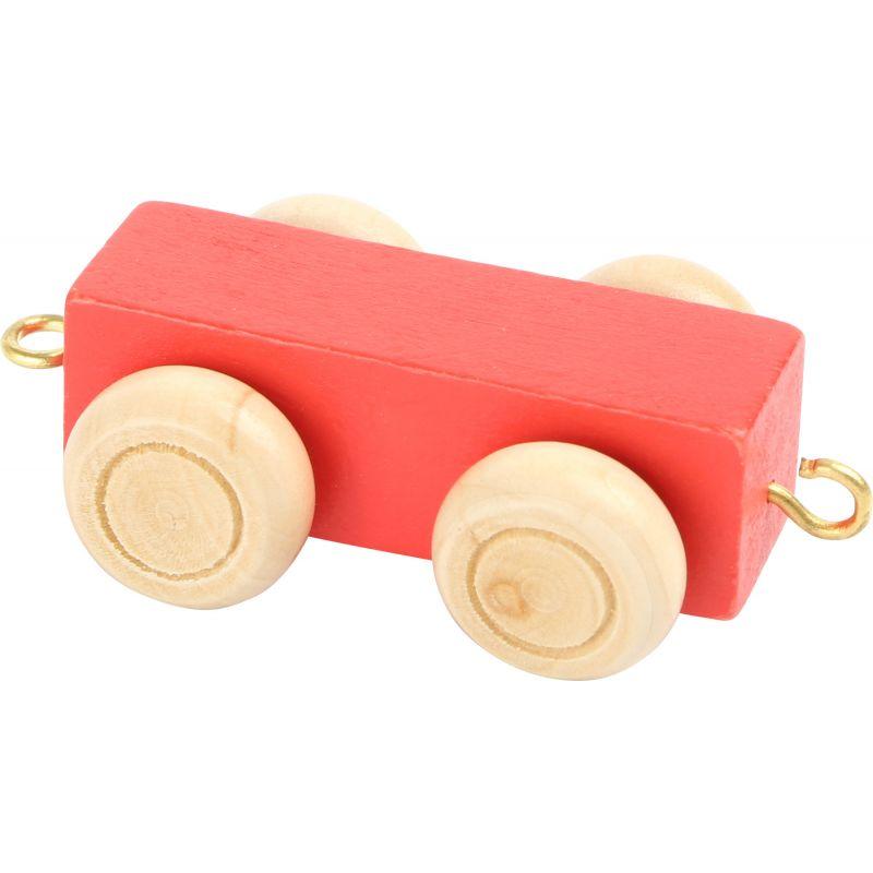 vagon rojo tren de colores