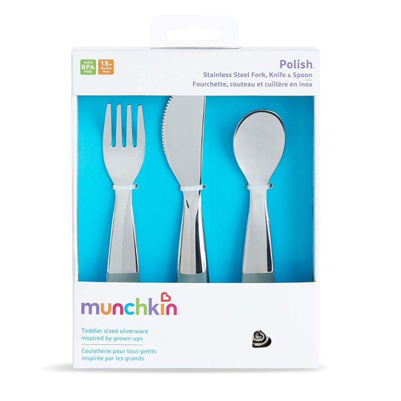 Set de cubiertos de acero inoxidable para niños - Munchkin