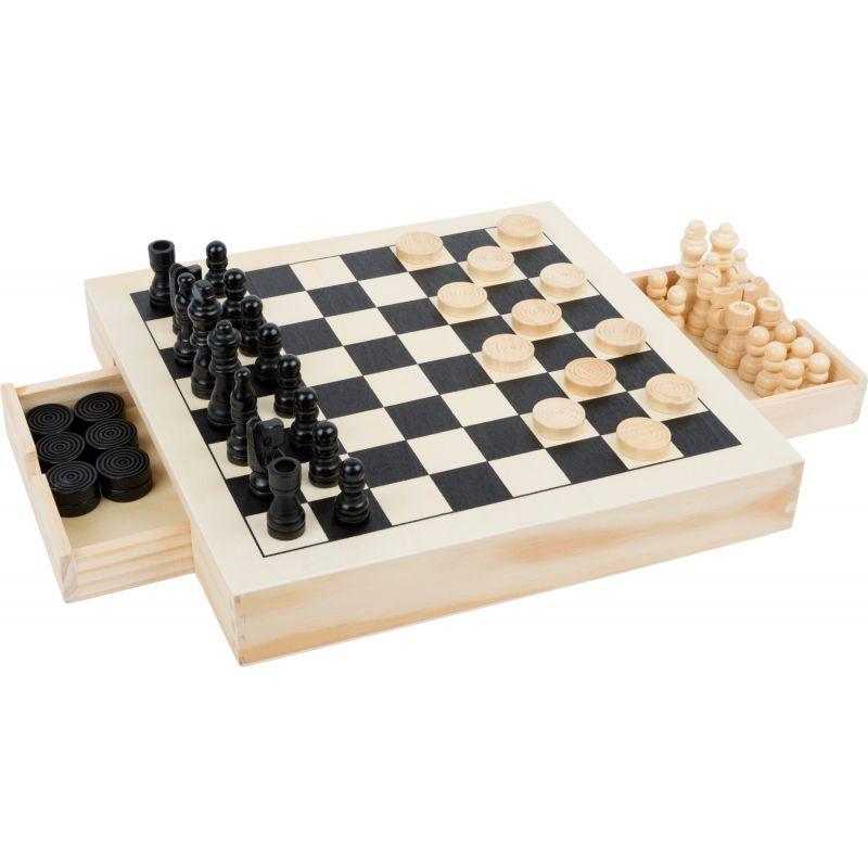 Set de juegos Ajedrez, Damas y tres en raya