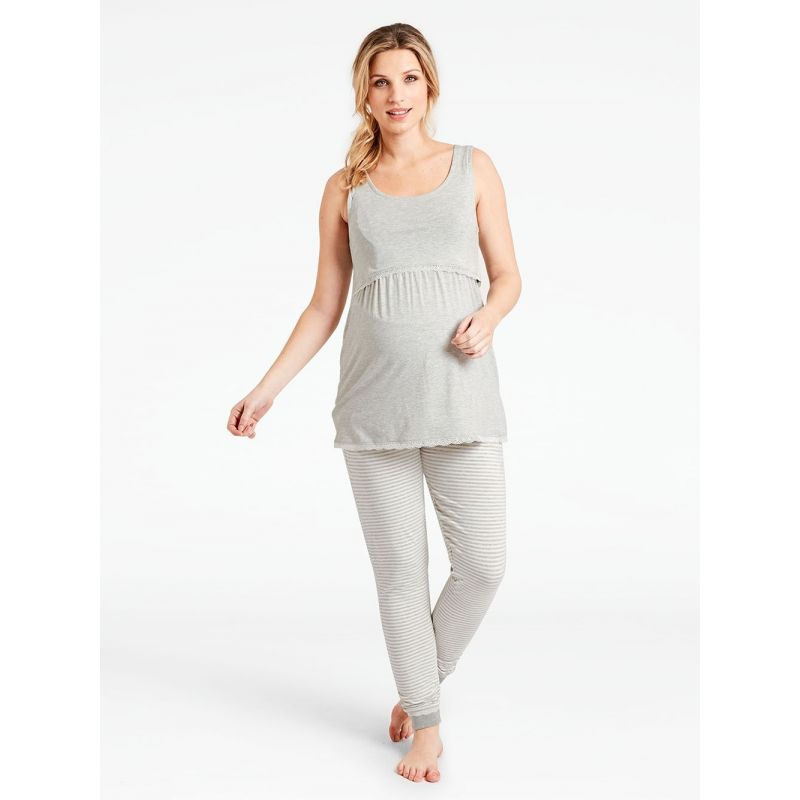 Set Pijama Premamá Gris