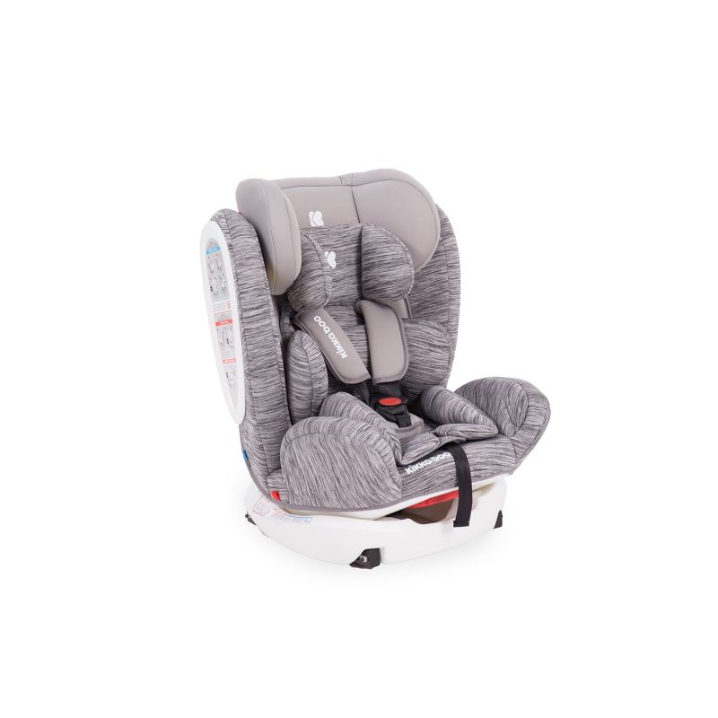 Silla de Coche Kikkaboo 4 Fix grupo 0+/1/2/3 color Light grey
