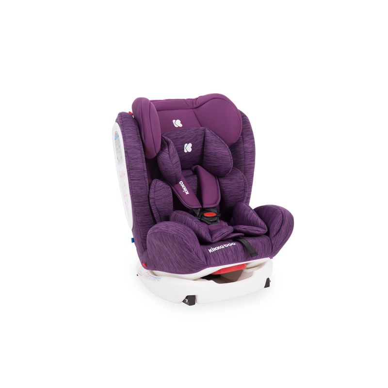 Silla de Coche Kikkaboo 4 Fix grupo 0+/1/2/3 color purpura