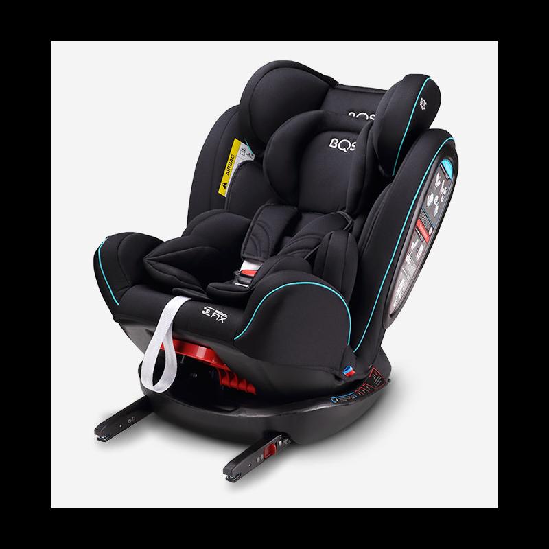 Silla de Coche BNO FIX Grupo 0+/1/2/3 BQS - Babyauto negra y azul turquesa