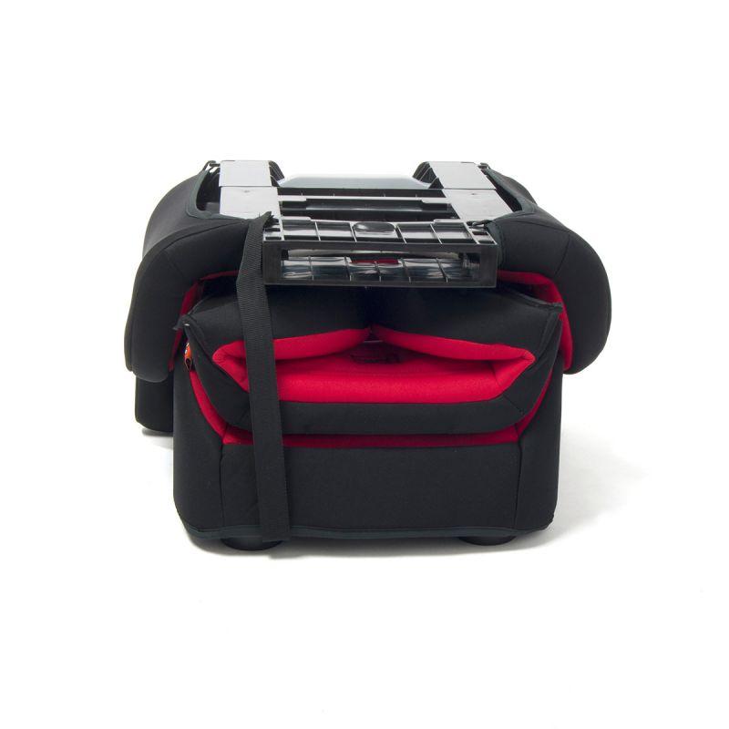 Silla de Coche Cubox  Grupo 2/3 Babyauto roja y negra plegada