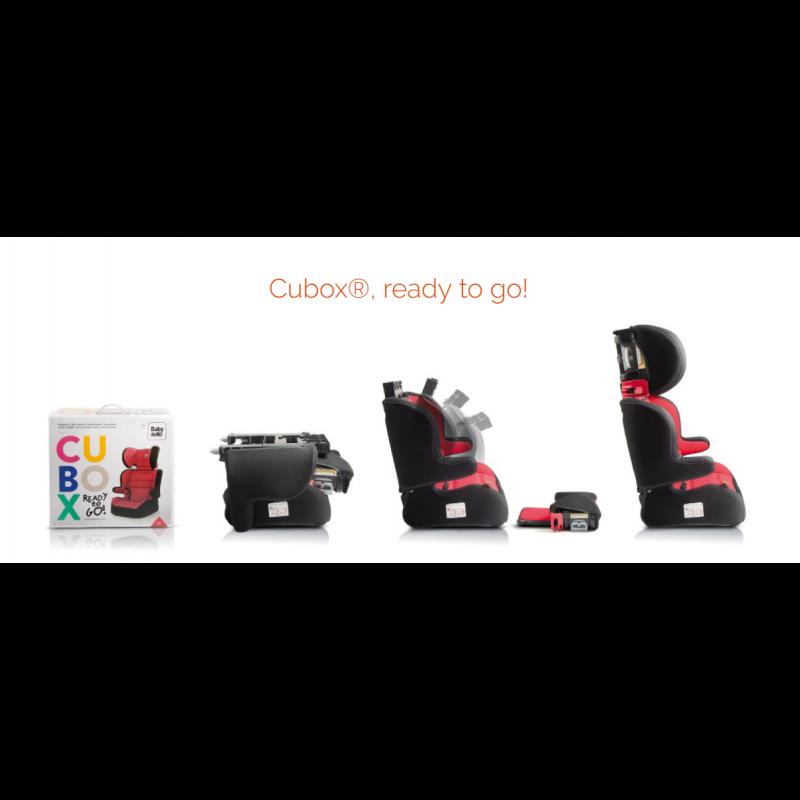 Silla de Coche Cubox  Grupo 2/3 Babyauto roja y negra ready to go