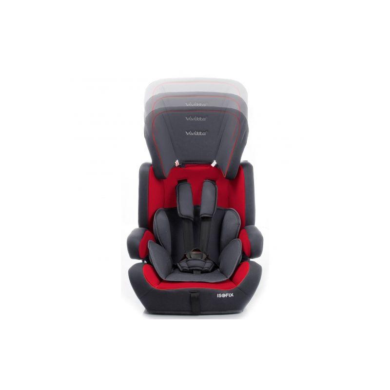 Silla Coche Grupo 1/2/3 Viz Fix Babyauto roja