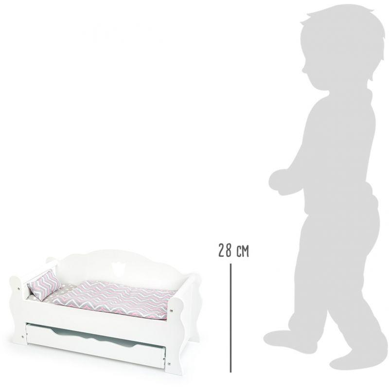 Sofa Cama para muñecas Blanco - Legler