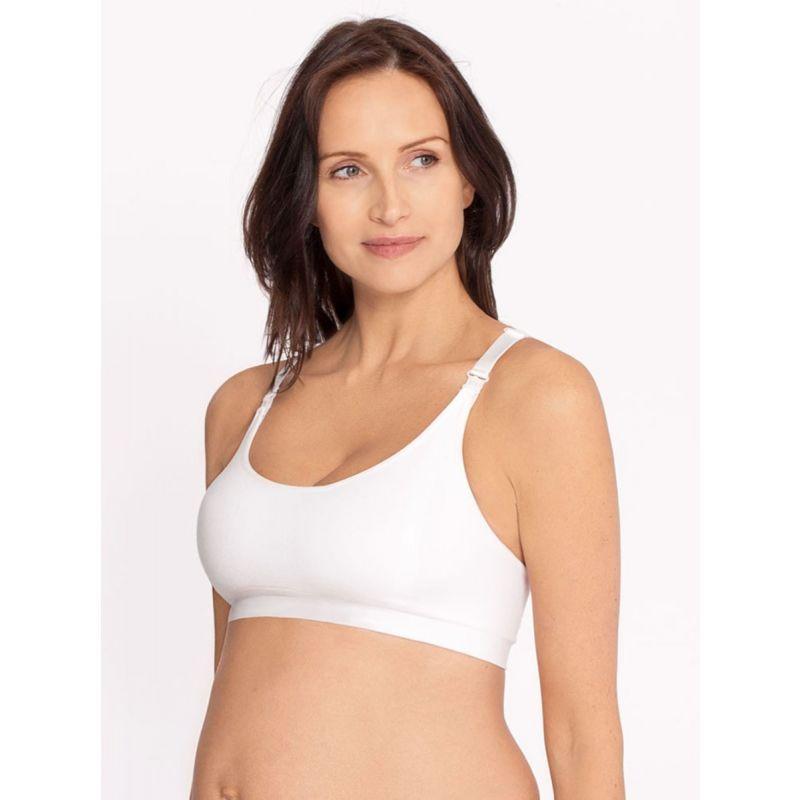 sujetador embarazo sin costuras blanco