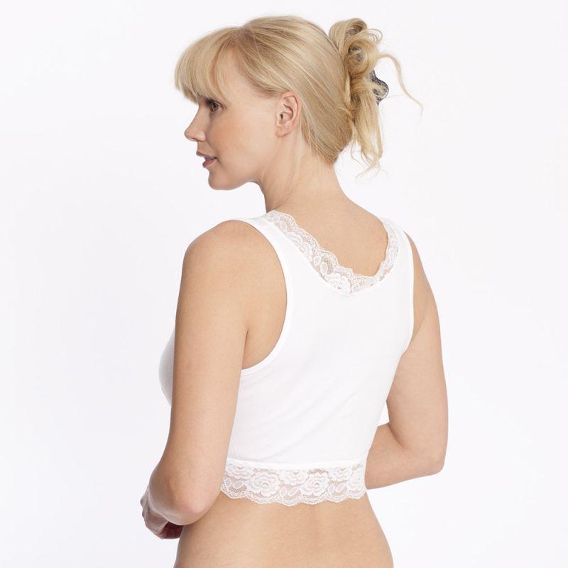 Sujetador Embarazo y Lactancia Encaje Blanco