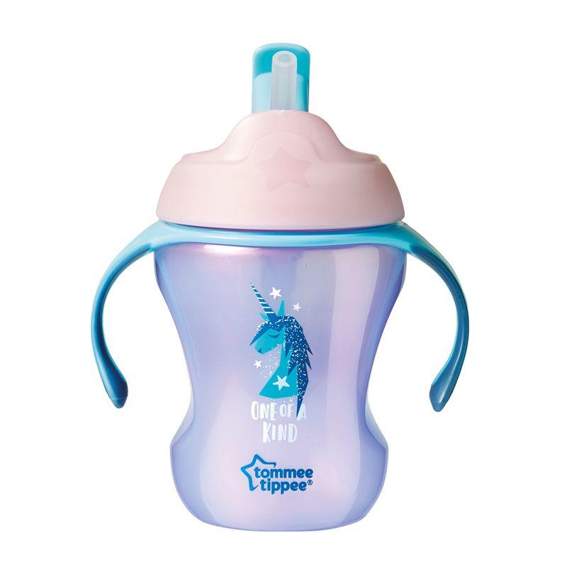 Taza Easy Drink Tommee Tippee 12 meses rosa dinosaurio