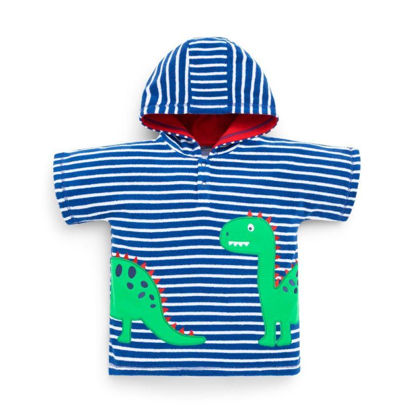 Toalla Poncho Dinosaurio para Niños