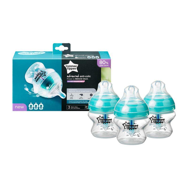 Tommee Tippee Anti Cólicos Botellas Nuevo 3 botellas de bebé azul